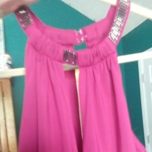 JustFab purplish pink dress